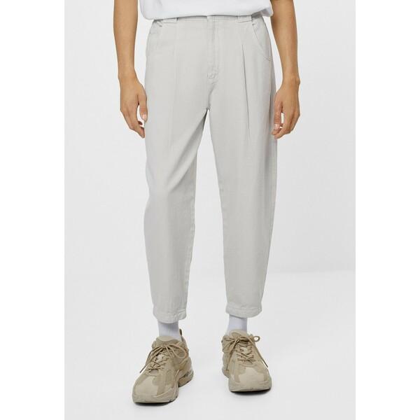 Bershka Spodnie materiałowe grey BEJ22E044
