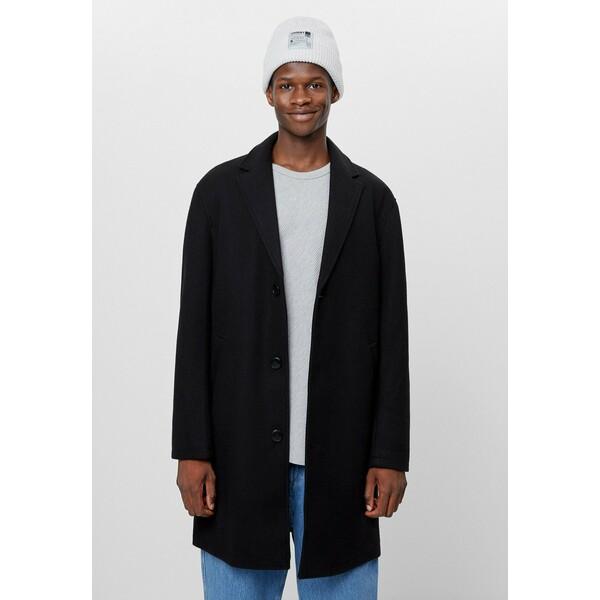 Bershka Płaszcz wełniany /Płaszcz klasyczny black BEJ22T06C