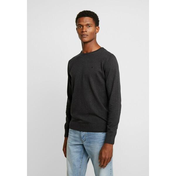 TOM TAILOR Sweter black grey melange TO222Q0F9