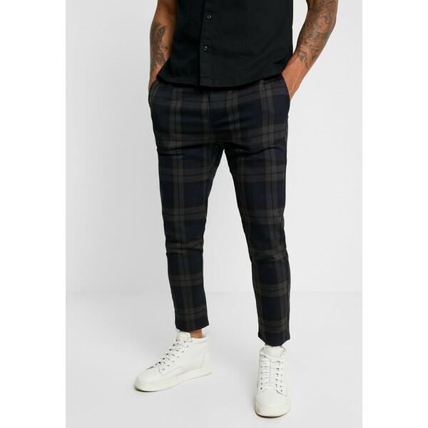 Only & Sons ONSLINUS CHECK PANT Spodnie materiałowe dark navy OS322E07U