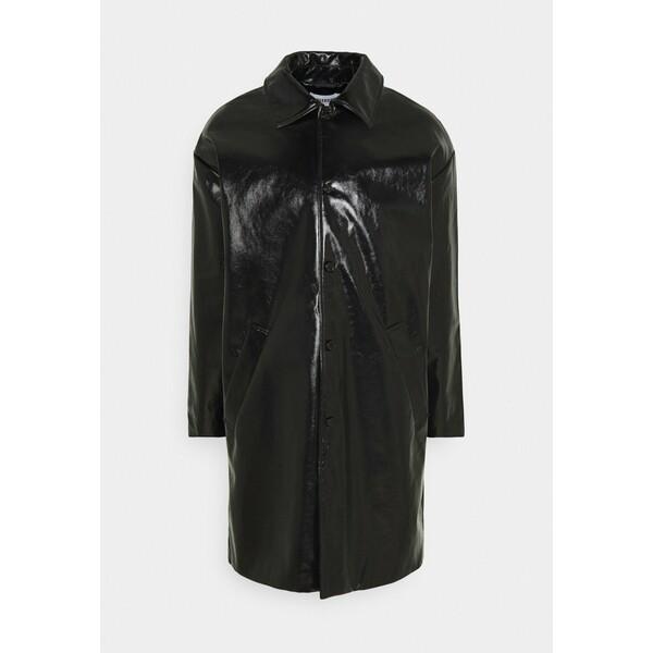 Weekday DARYL PATENT COAT UNISEX Klasyczny płaszcz black WEB210017