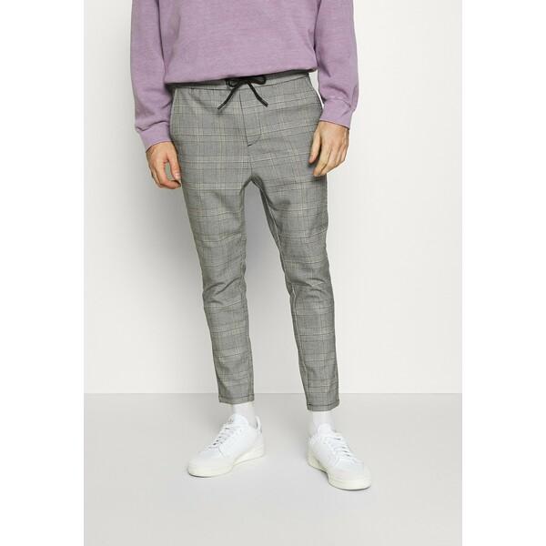 Only & Sons ONSLINUS CROPPED CHECK PANT Spodnie materiałowe medium grey melange OS322E09P