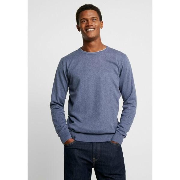 TOM TAILOR Sweter vintage indigo blue melange TO222Q0F9