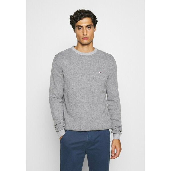 Tommy Hilfiger MOULINE STRUCTURE CREW NECK Sweter grey TO122Q08Z