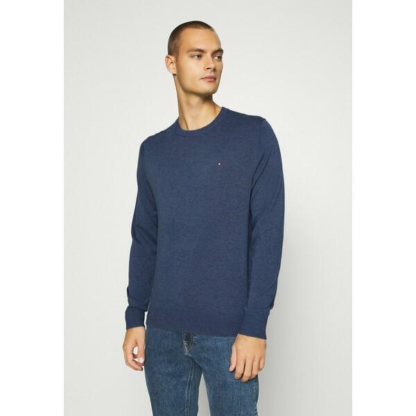 Tommy Hilfiger BLEND CREW NECK Sweter blue TO122Q09B