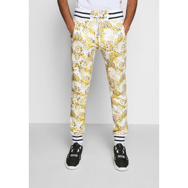 Versace Jeans Couture FLEECE NEW LOGO Spodnie treningowe bianco ottico VEI22E00H