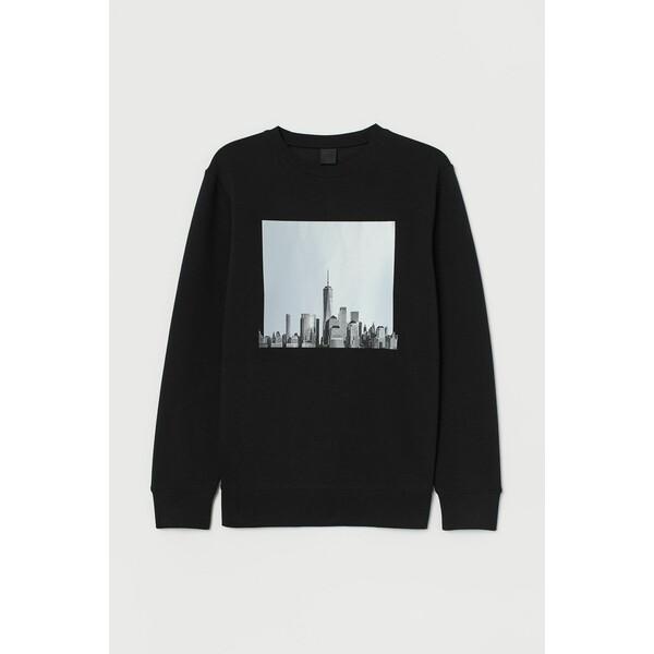 H&M Bluza z nadrukiem 0779633012 Czarny
