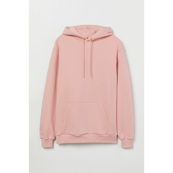 H&M Bluza z kapturem Relaxed Fit 0685814050 Różowy