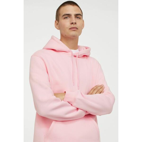 H&M Bluza z kapturem Relaxed Fit 0685814050 Jasnoróżowy