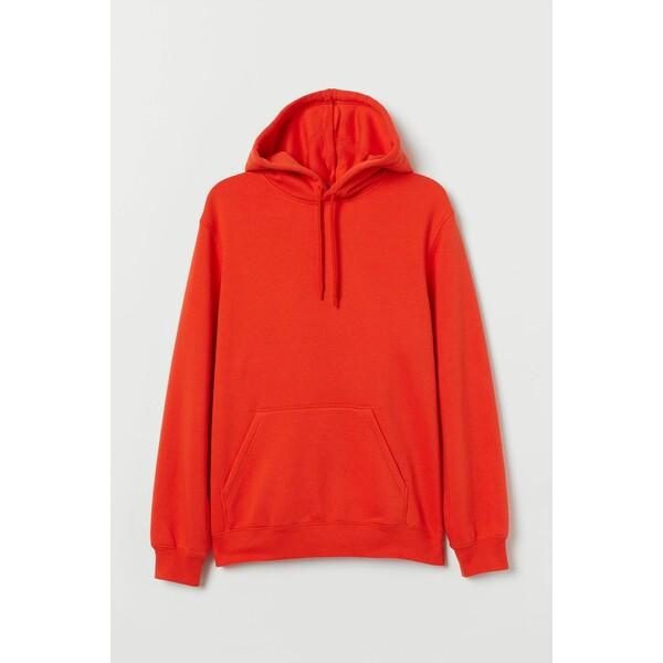 H&M Bluza z kapturem Relaxed Fit 0685814050 Pomarańczowy