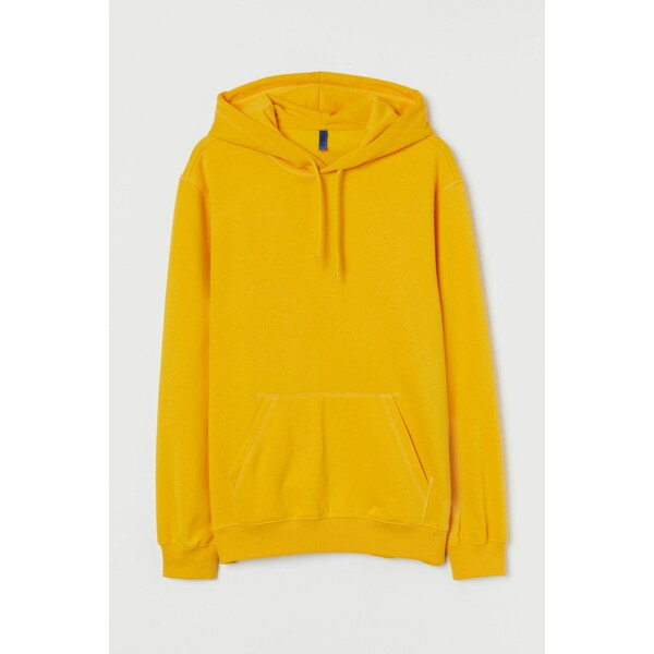 H&M Bluza z kapturem Relaxed Fit 0685814050 Żółty