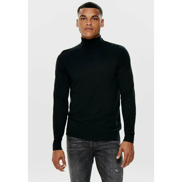 Only & Sons ONSMIKKEL SOFT HIGH NECK Sweter black OS322S0FZ