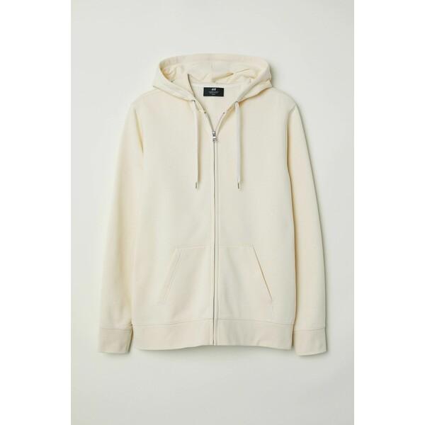 H&M Bluza z kapturem Regular Fit 0669091018 Kremowy