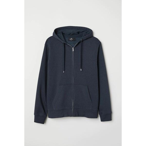 H&M Bluza z kapturem Regular Fit 0669091018 Ciemnoniebieski melanż