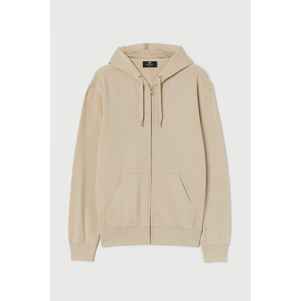 H&M Bluza z kapturem Regular Fit 0669091018 Jasnobeżowy