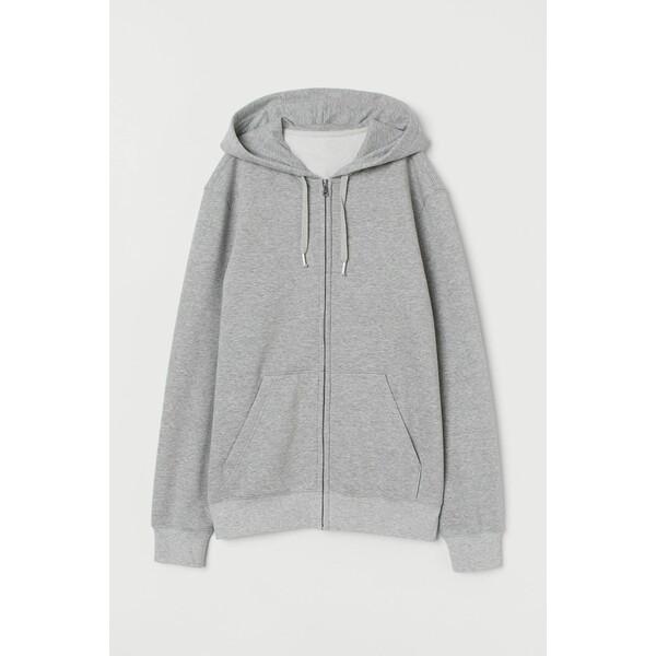 H&M Bluza z kapturem Regular Fit 0669091018 Jasnoszary melanż