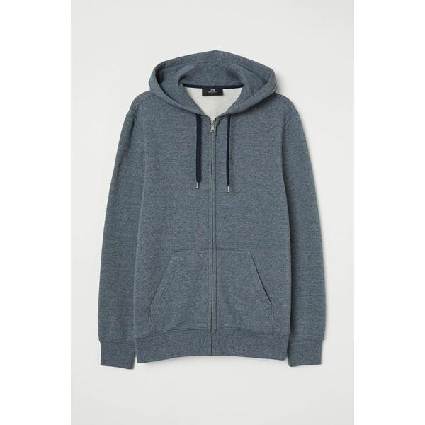 H&M Bluza z kapturem Regular Fit 0669091018 Niebieski melanż