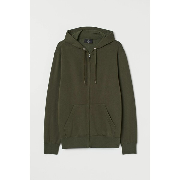 H&M Bluza z kapturem Regular Fit 0669091018 Ciemna zieleń khaki