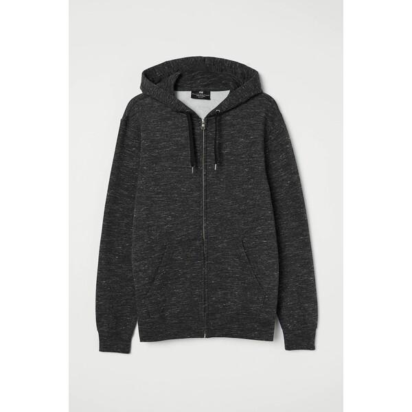 H&M Bluza z kapturem Regular Fit 0669091018 Ciemnoszary melanż