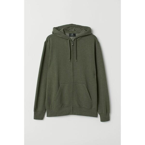 H&M Bluza z kapturem Regular Fit 0669091018 Zielony melanż