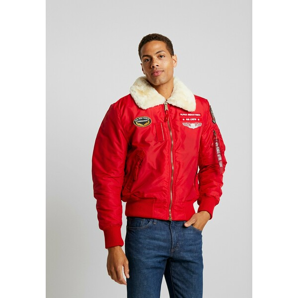 Alpha Industries INJECTOR AIR FORCE Kurtka Bomber speed red AL522T019