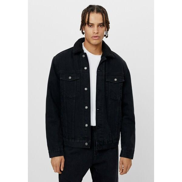 Bershka Kurtka jeansowa black BEJ22T06I