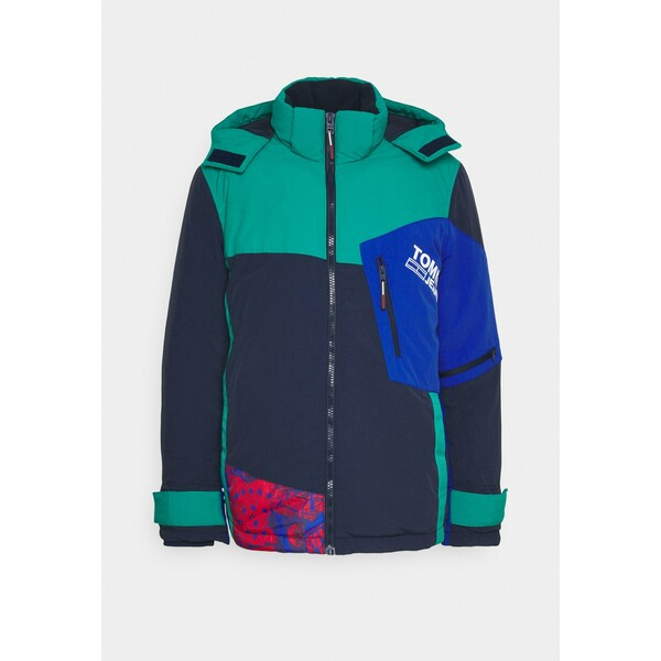 Tommy Jeans COLORBLOCK SNOW JACKET Kurtka zimowa twilight navy/multi TOB22T056