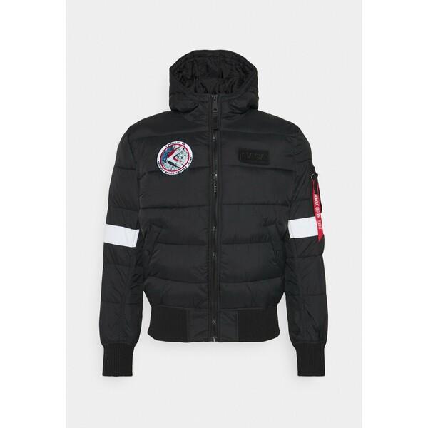 Alpha Industries HOODED PUFFER NASA Kurtka zimowa black AL522T01D