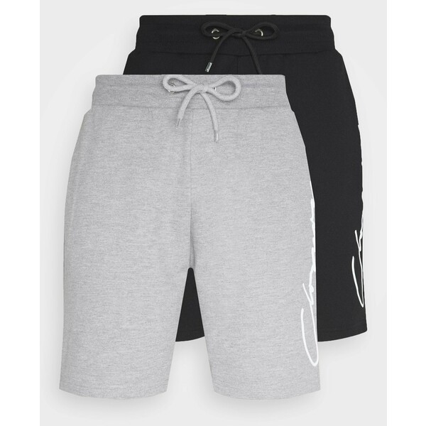 CLOSURE London SCRIPT 2 PACK Spodnie treningowe grey/black CLR22F001