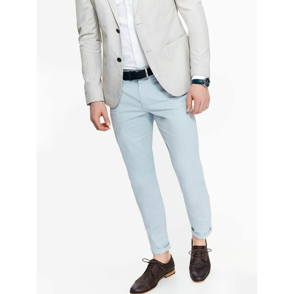Top Secret Spodnie męskie chino o kroju slim z lekkim opraniem SSP2841