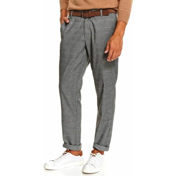 Top Secret spodnie tkaninowe z paskiem SSP3586