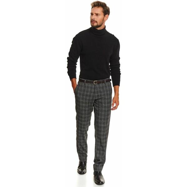 Top Secret spodnie chino w kratę slim fit SSP3587