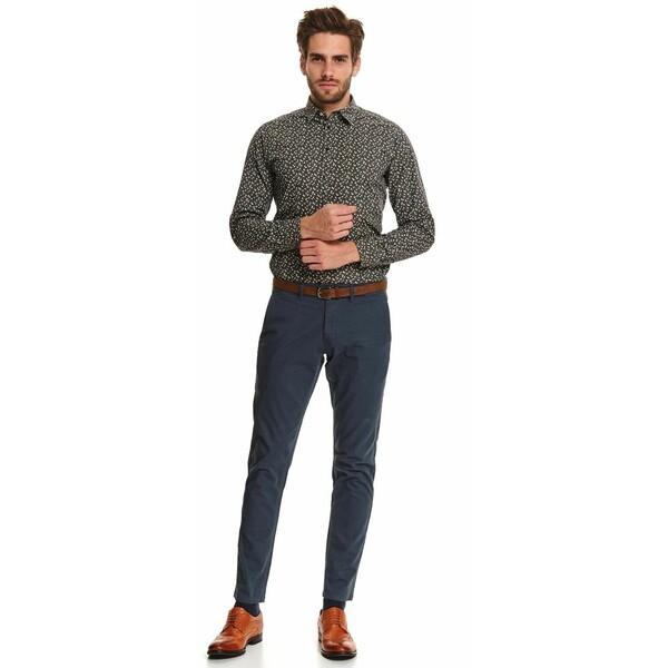 Top Secret spodnie chino strukturalne z paskiem slim SSP3659