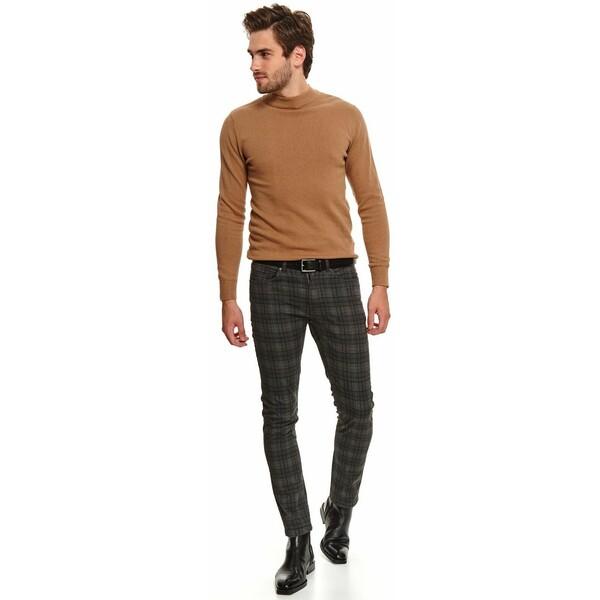 Top Secret spodnie w kratę o kroju slim SSP3633
