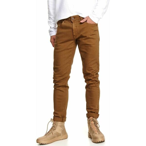 Top Secret spodnie z tkaniny strukturalnej slim fit SSP3617