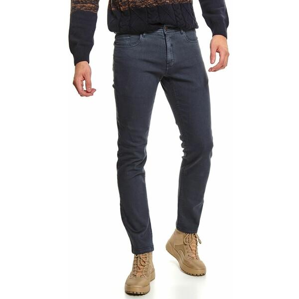 Top Secret spodnie z tkaniny strukturalnej slim fit SSP3612