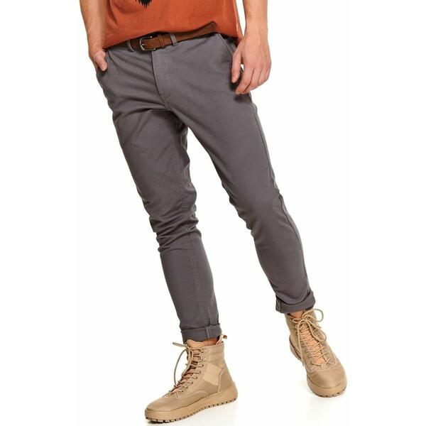 Top Secret spodnie tkaninowe chino z paskiem slim fit SSP3616