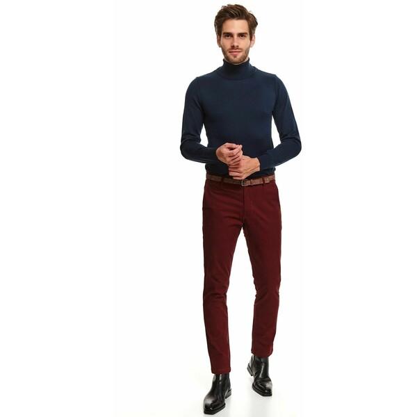 Top Secret spodnie chino gładkie z paskiem slim fit SSP3666