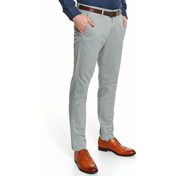 Top Secret spodnie dopasowane strukturalne z paskiem SSP3455