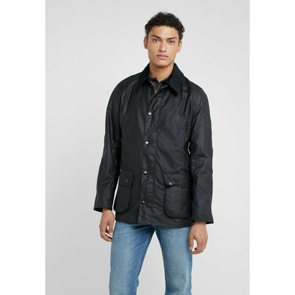 Barbour ASHBY WAX JACKET Kurtka wiosenna navy BA222T01C