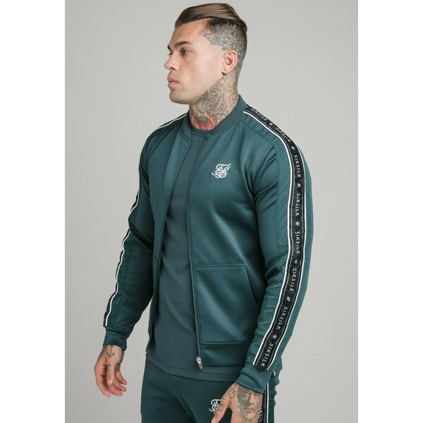 SIKSILK CRUSHED JACKET Kurtka Bomber ocean green SIF22T01O