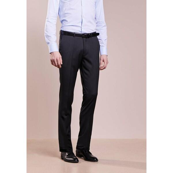HUGO HENFORD Spodnie garniturowe charcoal HU722A053