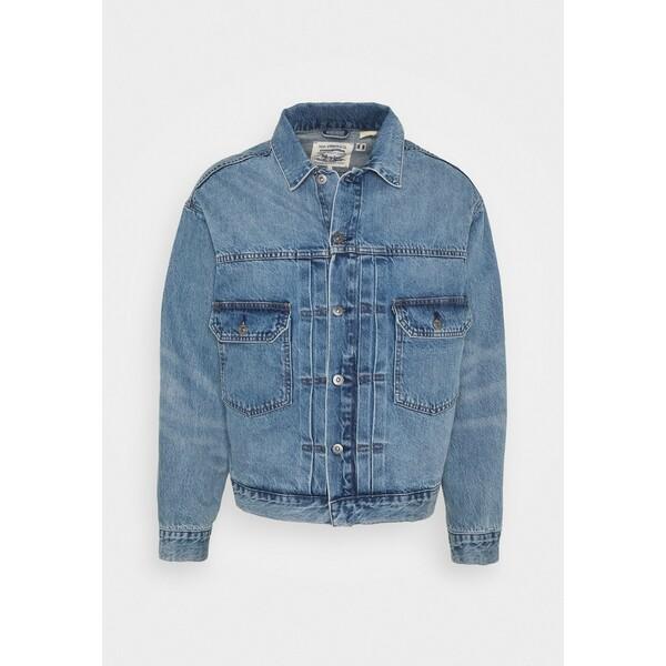 Levi's® Made & Crafted OVERSIZED TYPE II TRUCKER UNISEX Kurtka jeansowa blue denim L48210001