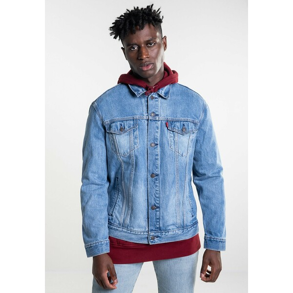 Levi's® THE TRUCKER Kurtka jeansowa blue denim LE222T02W