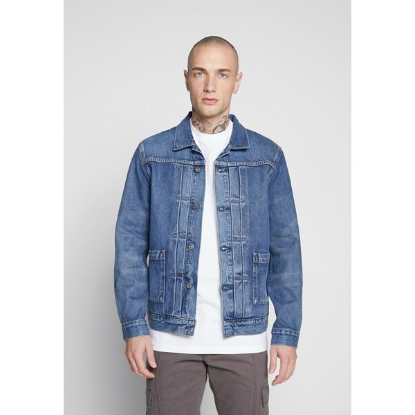 Levi's® Made & Crafted TYPE WORN TRUCKER Kurtka jeansowa blue denim L4822T00H