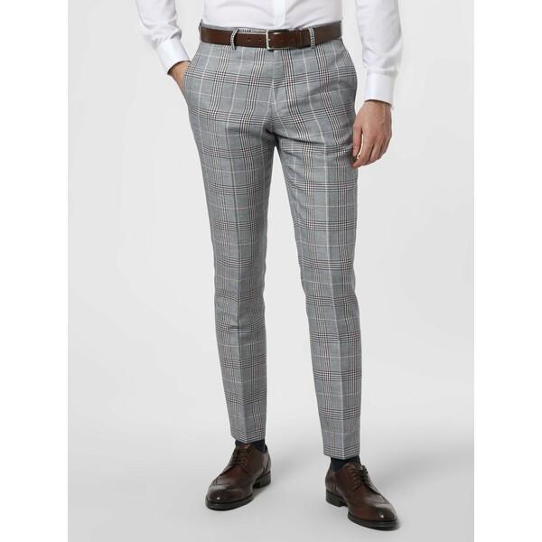 Finshley & Harding London Męskie spodnie od garnituru modułowego z dodatkiem lnu – Grant IB 431268-0002