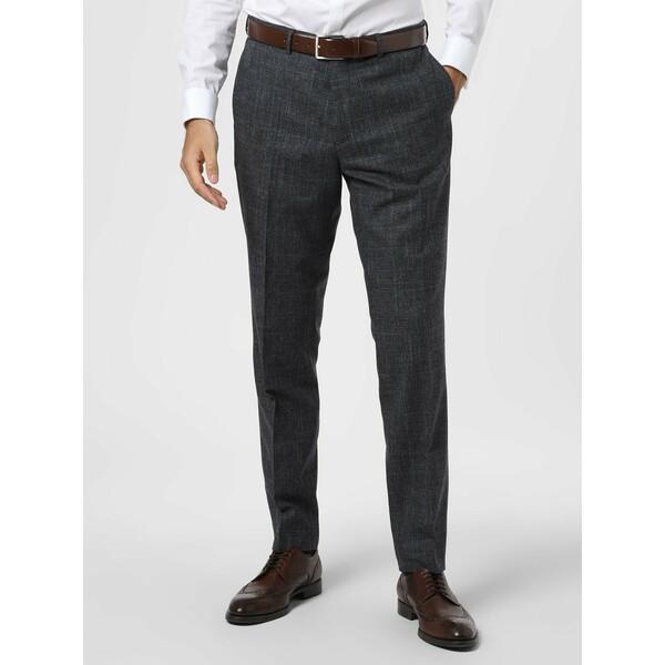 Andrew James New York Męskie spodnie od garnituru modułowego z dodatkiem lnu – Carter 487925-0001