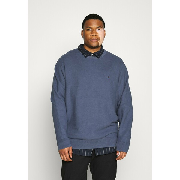 Tommy Hilfiger HONEYCOMB CREW NECK Sweter blue TO122E060
