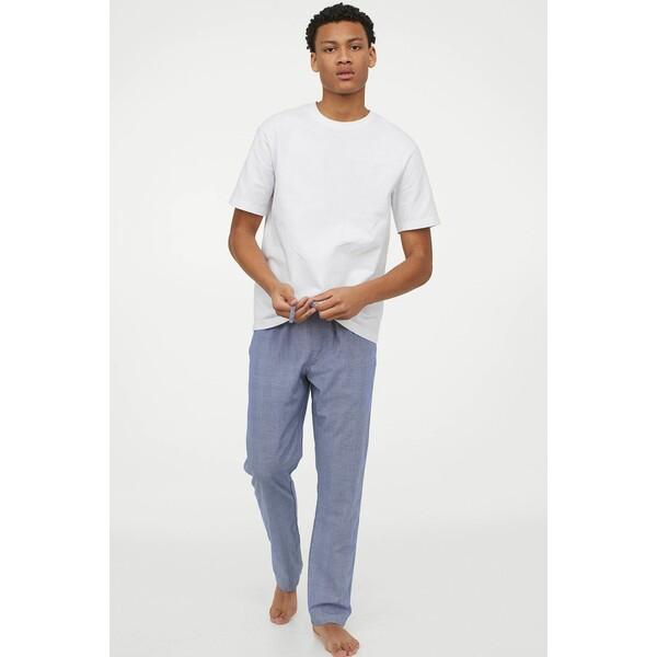 H&M Spodnie piżamowe 0523936045 Jasnoniebieski/Krata