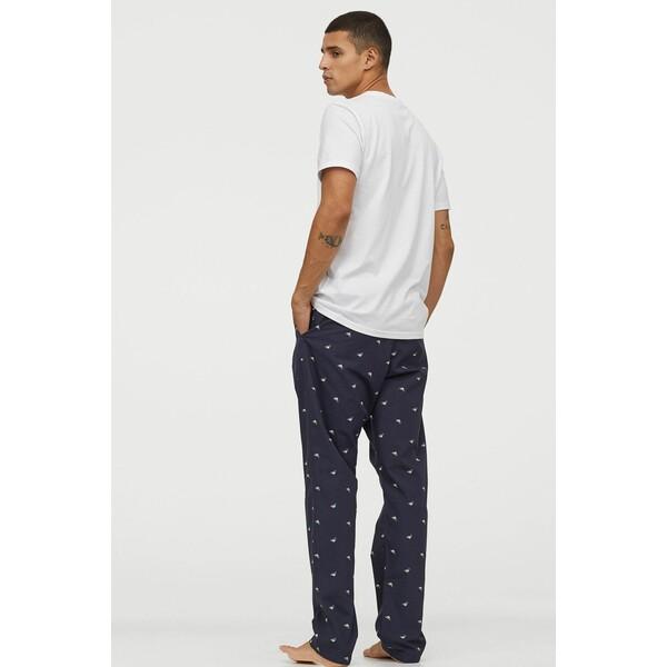 H&M Spodnie piżamowe 0523936045 Ciemnoniebieski/Kaczki